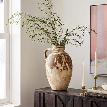 West Elm Farmhouse Antique Ivory Vase