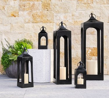 Pottery Barn Caleb Handcrafted Metal Lantern