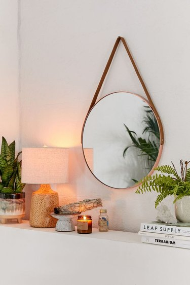 Urban Outfitters Carson Leather Strap Mirror