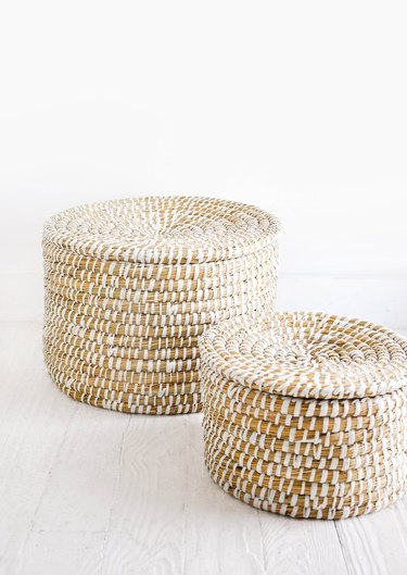 Leif Nesting Seagrass Baskets