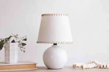 IKEA hack stitched lampshade
