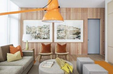 earth-tone living room