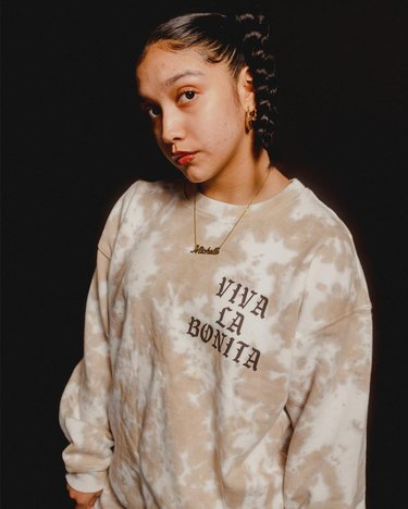 Viva La Bonita Tan Cloud Tie Dye Sweatshirt and sweatpants
