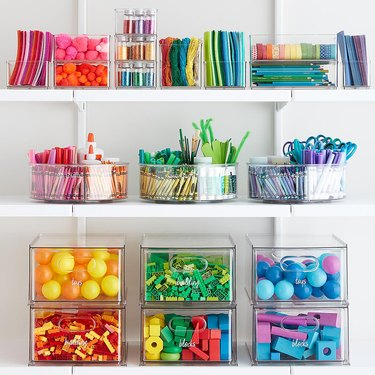 The Container Store x The Home Edit colorful organization set