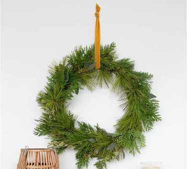 Foraged wreath with greenery
