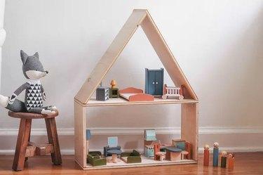 modern Scandi-style dollhouse