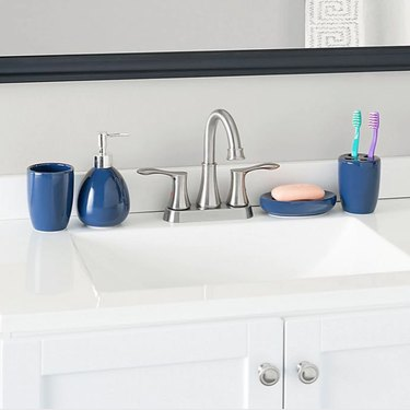 Navy 4-Piece Matte Bath Accessory Set