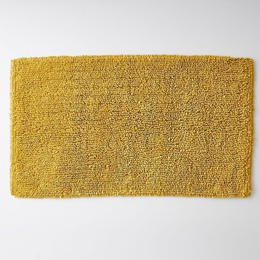 The Company Store yellow gold chunky loop bath mat