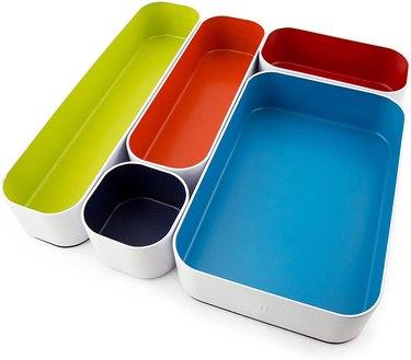 multicolor drawer desk organizer set
