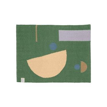 Quiet Town green abstract bath mat