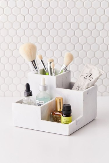Marble 4-Part Organizer Tray