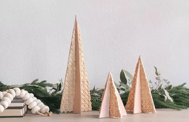 Cane and leather Christmas trees