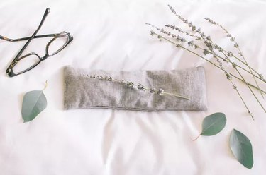 Eye pillow with lavender and glasses