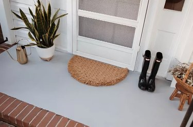 Painted concrete porch