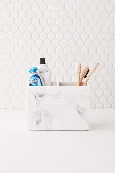 small marble toiletry organizer