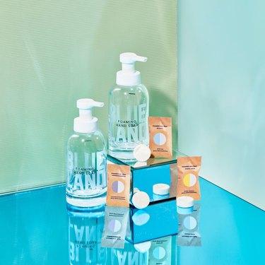 blueland handsoap bottles and refill packs