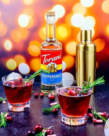 The Millennial Sahm Peppermint Cranberry Christmas Mocktail