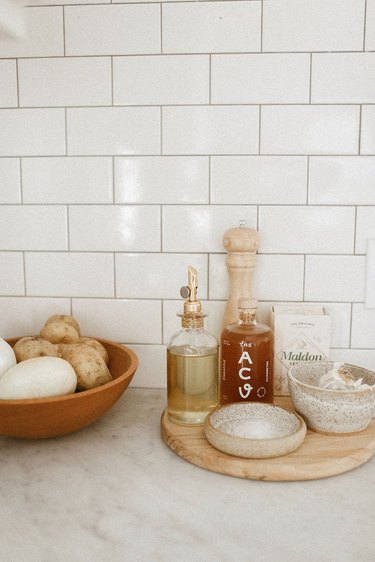 countertop detail in Sylvia Tribel's kitchen