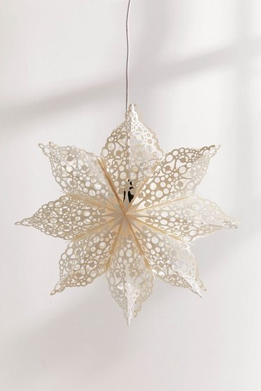 cutout star paper lantern