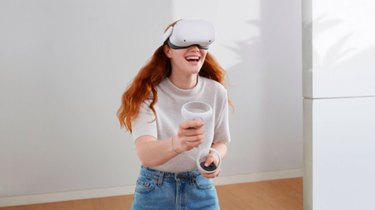 Woman Playing VR Oculus