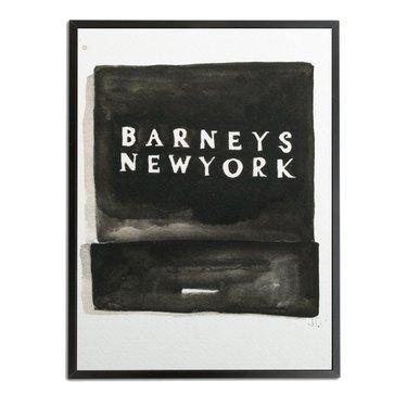 Barneys Matchbook Watercolor Print