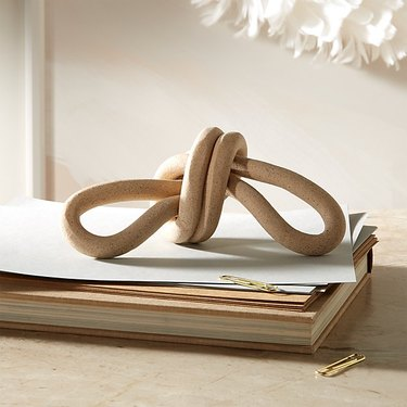 sculptural ceramic knot