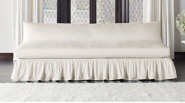 cb2 flutter slipcover sofa