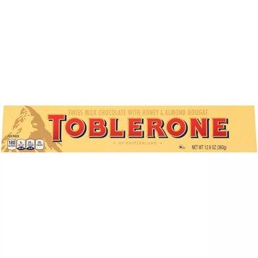 yellow toblerone chocolate bar
