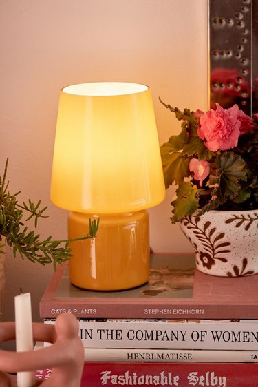 Urban Outfitters Little Glass Table Lamp in gold