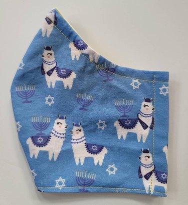 "Bitchinstitchart ""Happy Llamukkah"" Face Mask, $15"