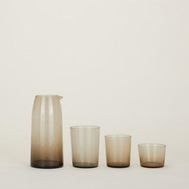 Hawkins New York Chroma Glassware in brown