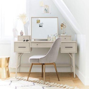 West Elm Mid-Century Vanity Desk Set