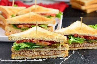 Chef Lola's Kitchen Chicken Club Sandwich