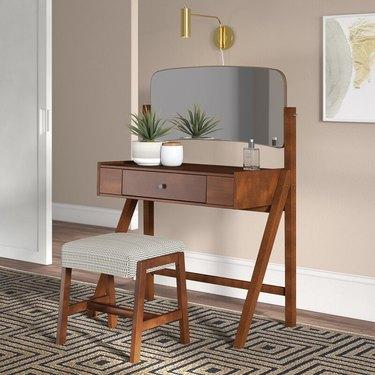 George Oliver Avienda Vanity Set with Mirror