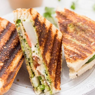 Cook With Manali Bombay Veggie Grilled Cheese Sandwich