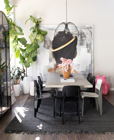 dining room of Duett Interiors founder Tiffany Thompson
