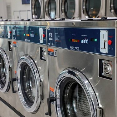silver dexter washers at the laundromat