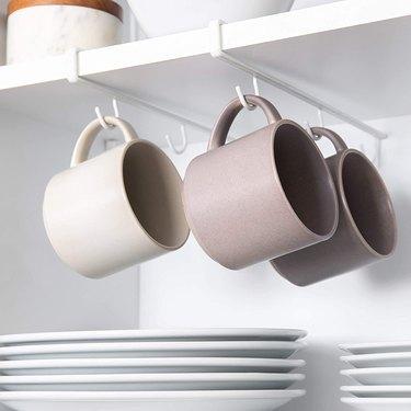 under shelf mug hooks
