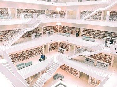interior of the stuttgart city library