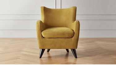 mustard suede chair