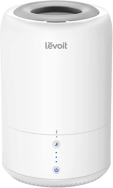 white cylinder humidifier