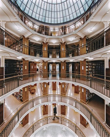 picture of the national library of finland interior