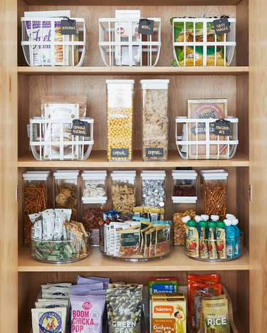 How to Organize a Pantry in wood pantry