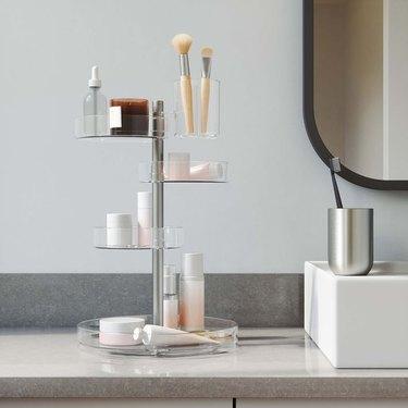 acrylic bathroom organizer