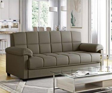 Maurice Microfiber Pillow Top Arm Convert-a-Couch Futon Sofa Sleeper