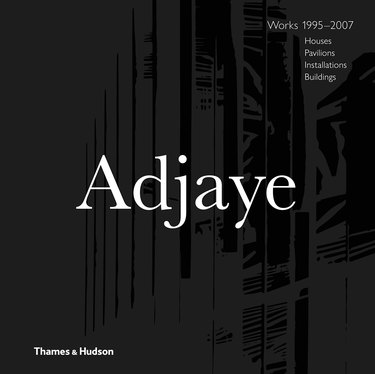 book with text reading Adjaye