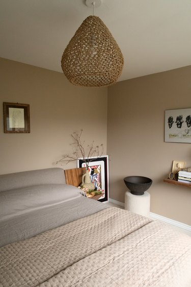 Duett Interiors founder Tiffany Thompson neutral bedroom with earthy decor