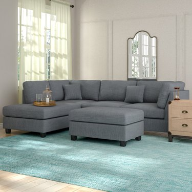 Andover Mills Hemphill Wide Reversible Sofa & Chaise with Ottoman