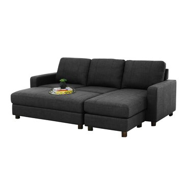 Three Posts Teen Askerby Reversible Modular Sofa and Chaise with Ottoman