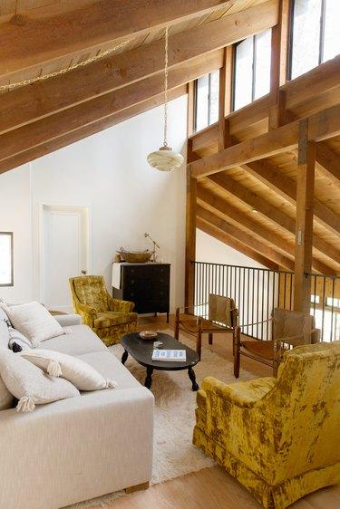 The upstairs loft